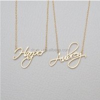 Inspire Stainless Steel Jewelry Name Necklace Personalized Gift Custom Pendant Cursive Handwriting Custom Women Fashion jewelry