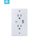 Wifi Wireless Control Smart Wall Plug Socket with USB for Home and Office