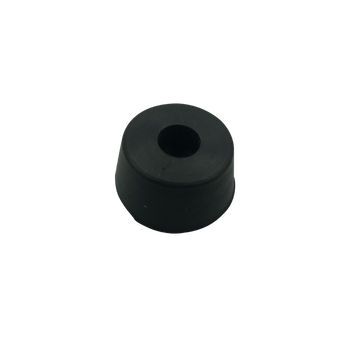 Black round adjustable rubber made product - rubber feet