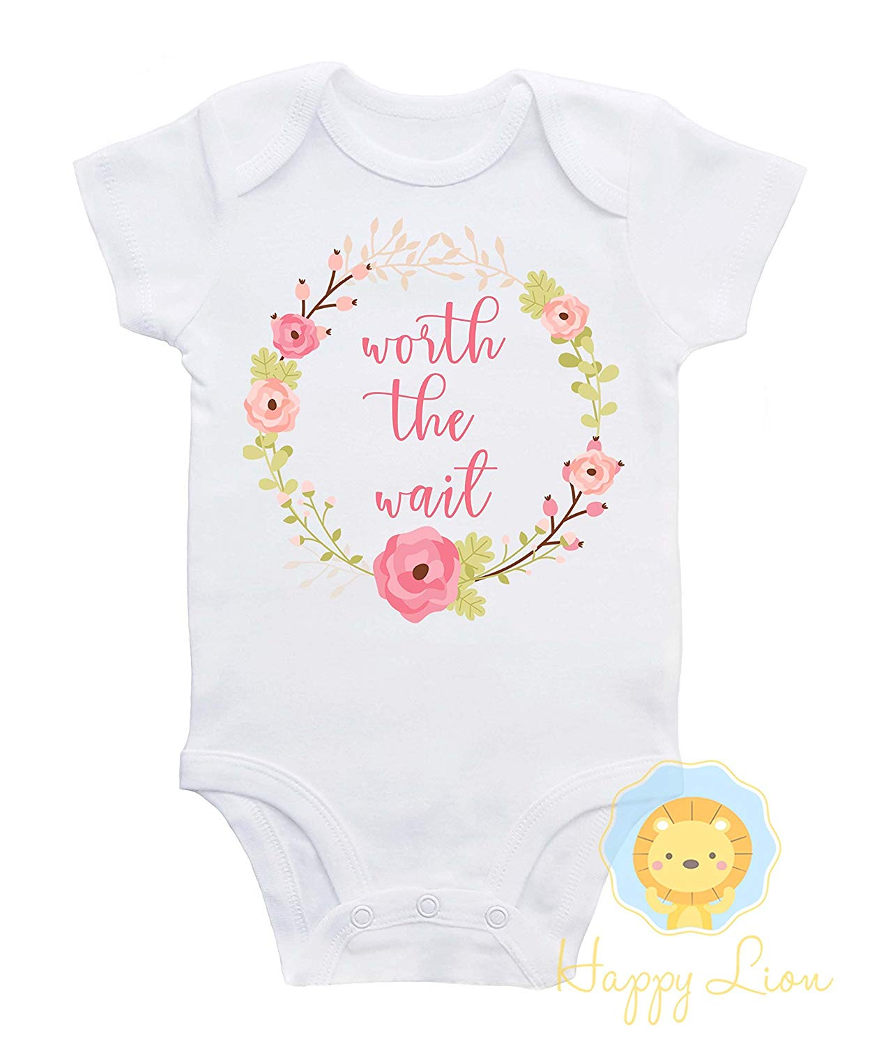276770bddede Get Quotations · Happy Lion Clothing - Worth the wait Onesie®