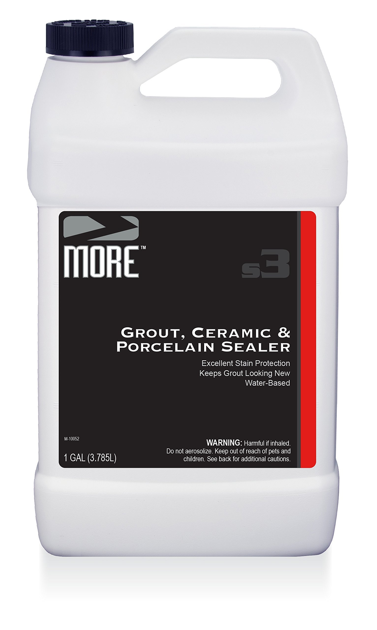 MORE Grout, Ceramic & Porcelain Sealer - Gentle, Water Based Formula for Stain Protection [Gallon / 128 oz]