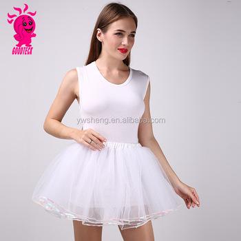 187ad0d9d Beauty Women Girl White Sequins Tutu Chiffon Short Fluffy Clothing Skirts