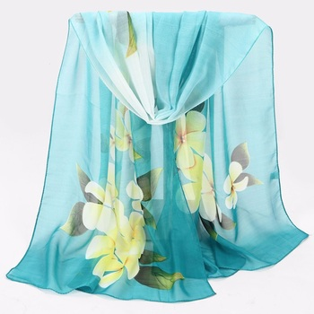 Summer Women's Beach Sarong Shawl Ladies' Printed Scarf,Flower Printed Scarf For Malaysia