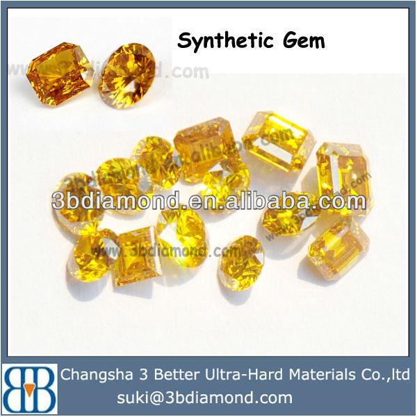 Names Gold Yellow Gemstone,Synthtic Diamond Gems