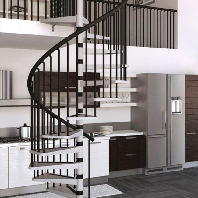Customized wooden Spiral Staircase stair manufacturer