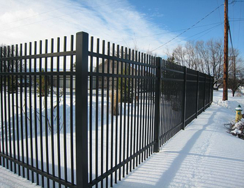 Steel Fence Panels Square Tube Wrought Iron Fence Factory