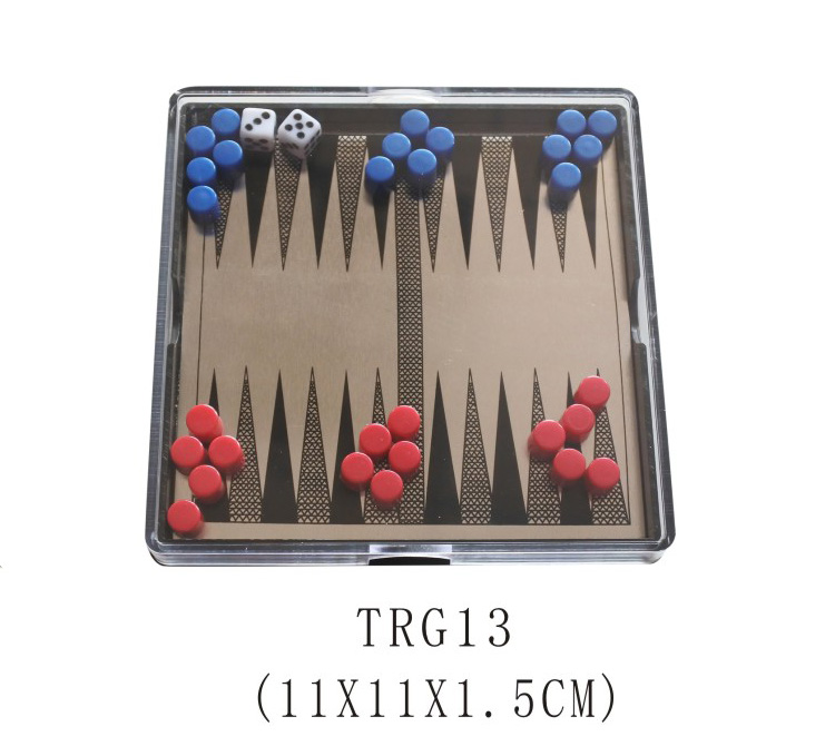 Mini Magnetic Backgammon Set Catur