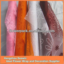 100%nylon organza roll fabric for flower wrapping