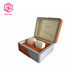 China factory luxury wooden single watch storage box leather covered box for men