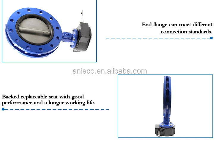 Electric actuator rubber lined wafer type butterfly valve price