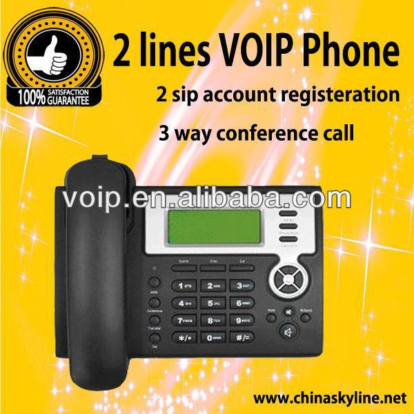 voip phone with 2 sip account IP phone intercom sip voip
