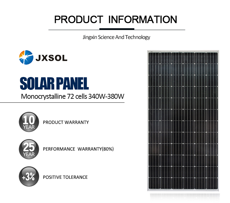 최고의 가격 340 와트 태양 전원 패널 스트립