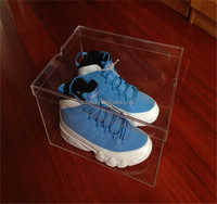Promotional cheap price acrylic sneaker box for nike shoe