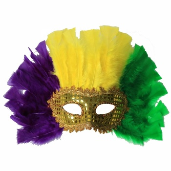 Luxury Mardi Gras Party Decoration Feather Face Masks