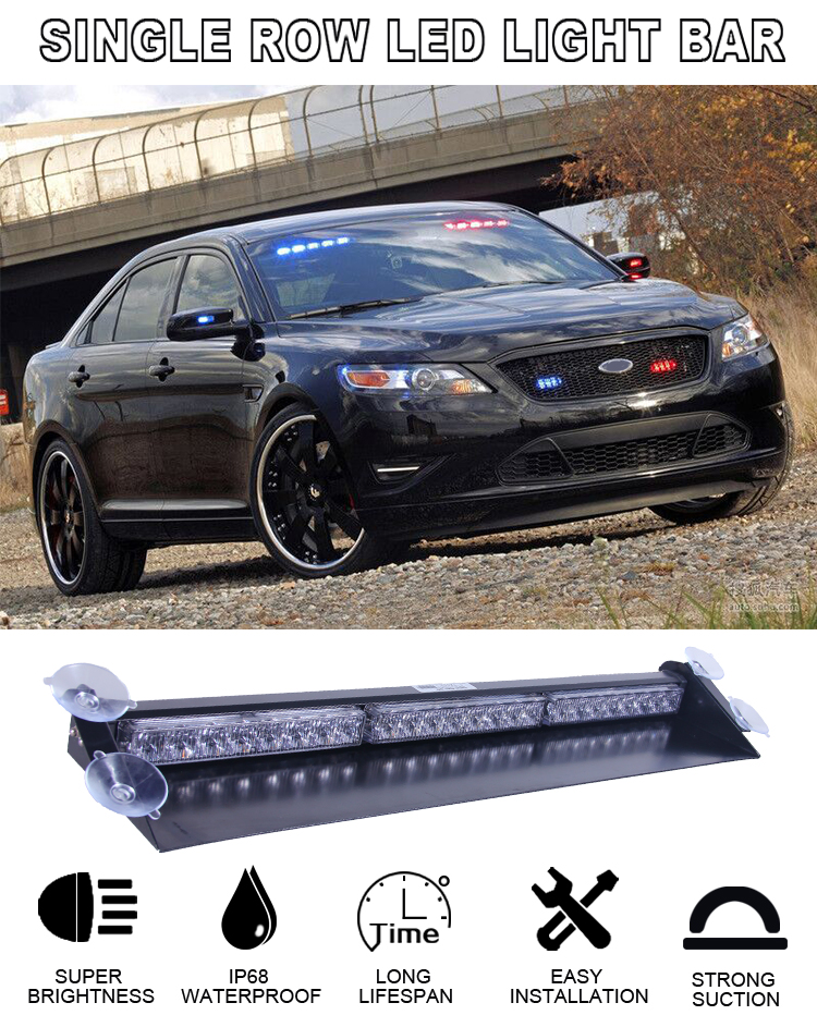 As803d 3watt per led emergency vehicle led traffic advisor strobe as803d 3watt per led emergency vehicle led traffic advisor strobe light bar visor led directional mozeypictures Image collections