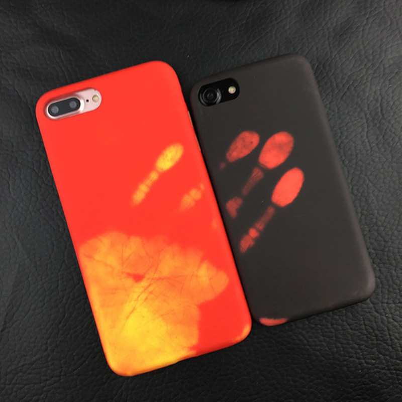 newest e2ae3 1f256 Luxury Thermal Sensor Soft Case for iphone XS Max XR XS X Thermal Heat  Induction phone case conque for iphone X 6 6s protective