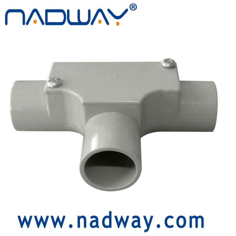 Conduit and fittings deep J/BOX with 1 way through entries