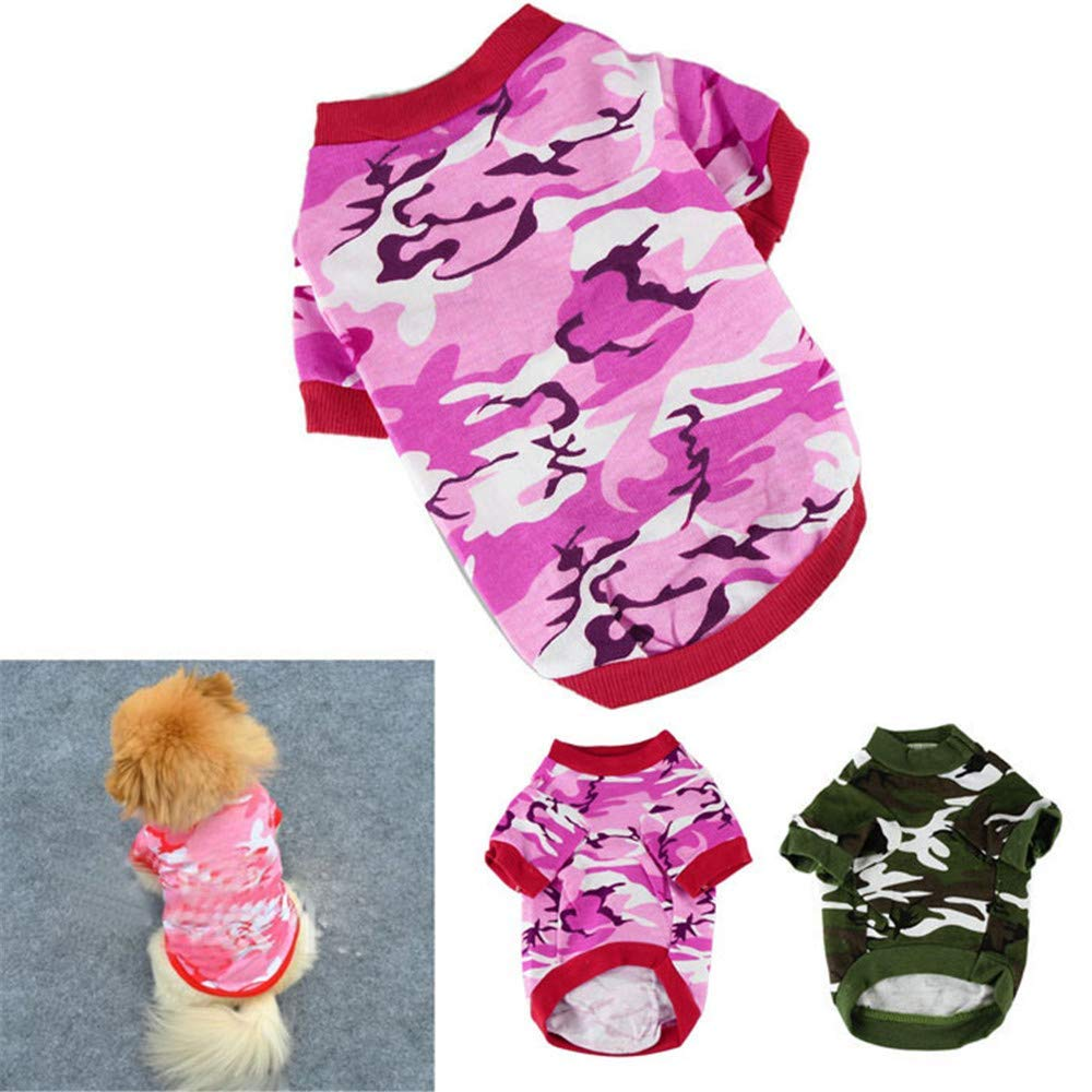YOMXL Camouflage Dog Clothes Fashion Short Sleeve T-Shirt Tops for Pet Puppy Summer Apparel Only for Small Dog