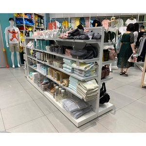 Modern Metal Retail Luxury Furniture Shelf Clothing Stores Wholesale Suppliers