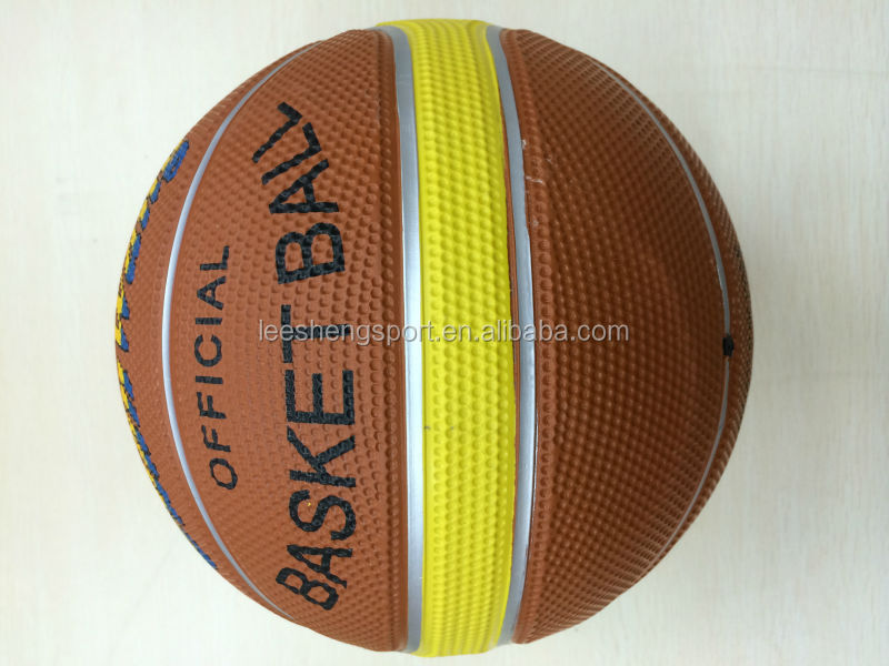 2014's new style rubber basketball with cellular Factory Direct Supply