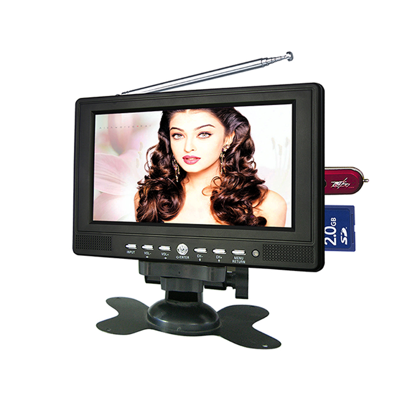 China 12 years gold supplier Portable mini TV <strong>LCD</strong> with FM Radio, VGA