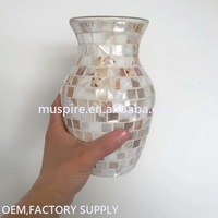 China supplier crazy selling brass glass cemetery flower vase