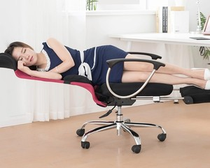 Multi-function office chair bed with footrest
