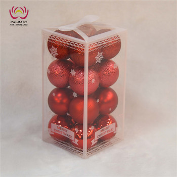 red fancy christmas ornaments snowflake box christmas ornament plastic christmas ornament with string