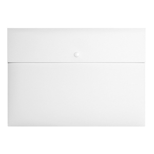 White Portfolio A4 File Folder Document Wallet Files With Snap Button