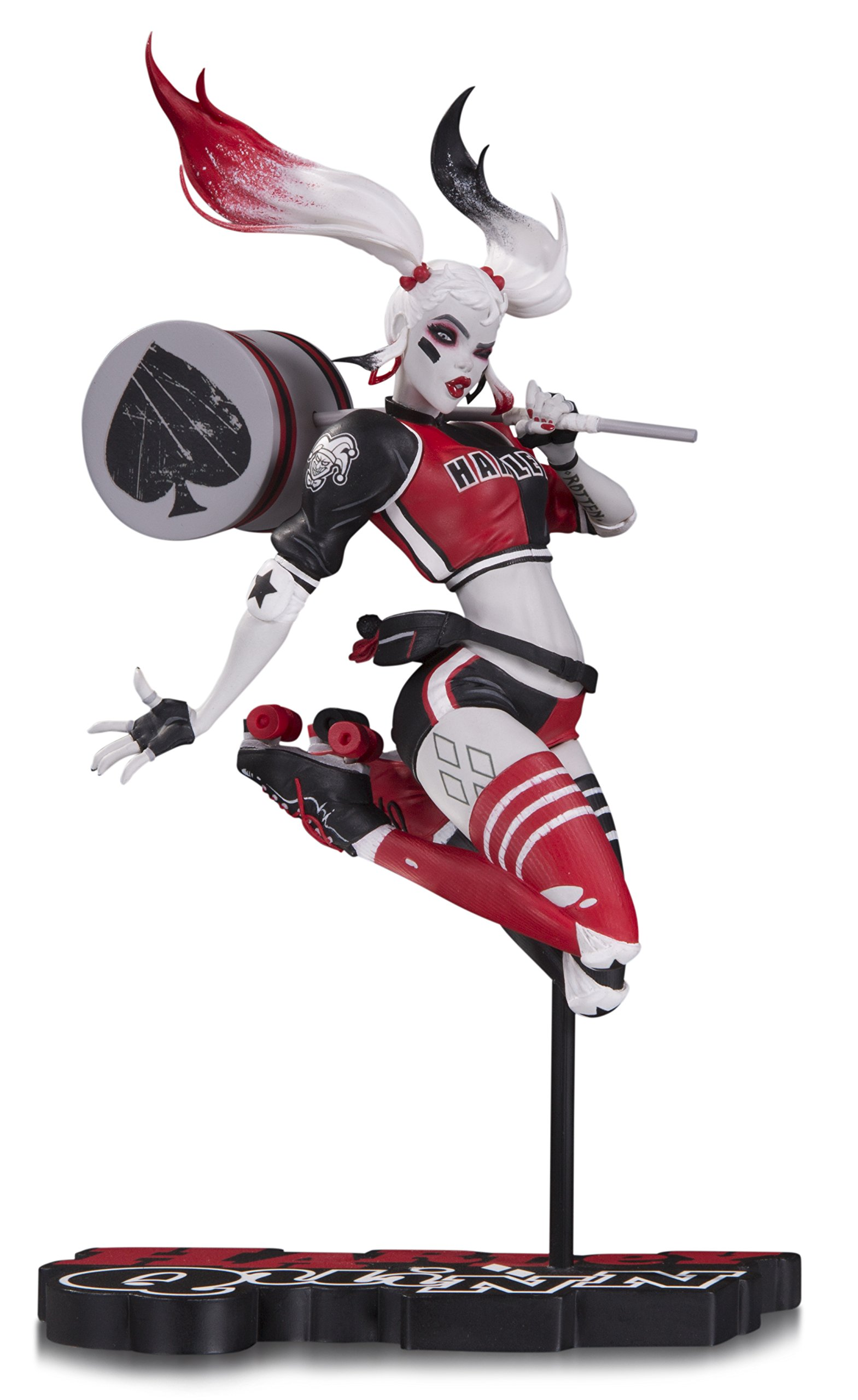 DC Collectibles Harley Quinn Red Babs Tarr Statue, White and Black