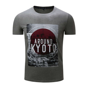 Bangladesh Manufacturer Round Neck Men Slim Fit Custom Bamboo Printing T Shirt(A048)