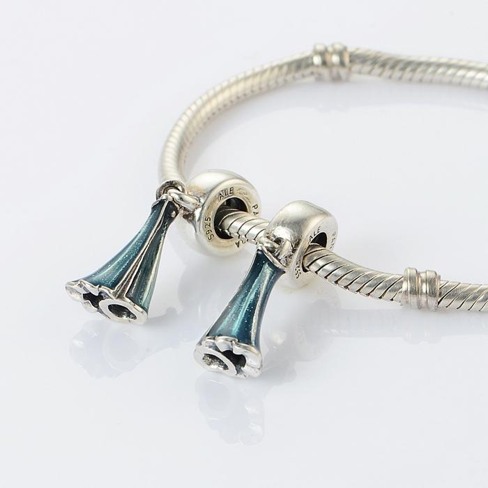013f80a11 Pandora AQUA BOHEMICH Beads 8MM Ball Studs 925 Silver Earrings SER0815
