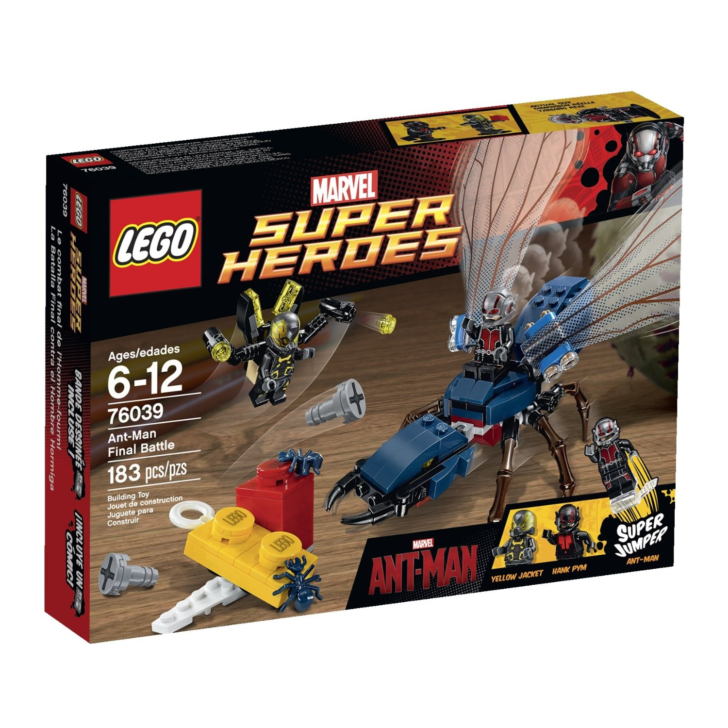 LEGO Superheroes Marvel's Ant-Man 76039 Building Kit (Discontinued by manufacturer)