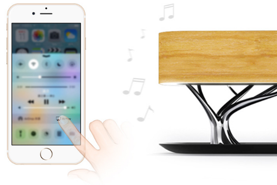 Home tree LED speaker bed tree lamp with music speaker and wireless charger for home