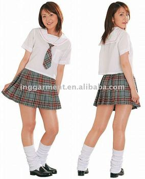School Girl's Plaid Skirt - Buy School Girl's Plaid Skirt,Girls In ...