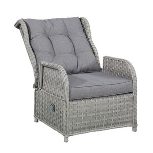 Outdoor Rattan Wicker Adjustable Recliner Lounge Chairs