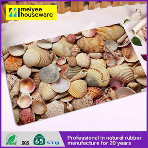 Economical 3D Vision Printed Blank Floor Mats Wholesale Washable  doormat,Anti-skid Entrance WelcomeMats Oriental Rug Rubber Mats