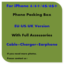 50pcs/lot High Quality US/EU/UK Version Phone Packing Packaging Box Case For iPhone6/6s/6s plusWith Full Accessories
