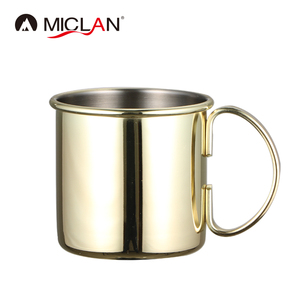 Shiny Food Grade Moscow Mule Russian Copper Plated Drinking Coffee Beer Cocktail Vodka Ginger Tea Mug