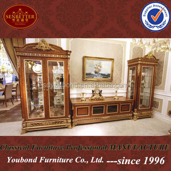 0062 Italy Design High End Antique Furniture Showcase TV Cabinet