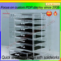 China factory acrylic jewelry display case, acrylic jewelry box