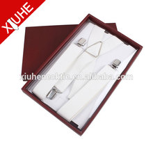 2017 fashion white metal clips suspenders for women