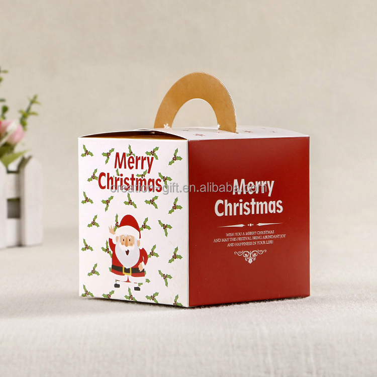Christmas Apple Gift Box Good Quality Packaging Box for Candy Cookies Christmas Eve Gift Box Santa Clause