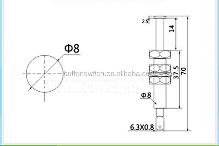 As69-( off) 20a 12 VDC autotür stift schalter auto kfz-schalter ...
