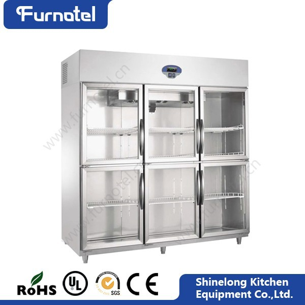 Restaurant Professional Refrigeration Appliance Best Quality Glass Front Refrigerator