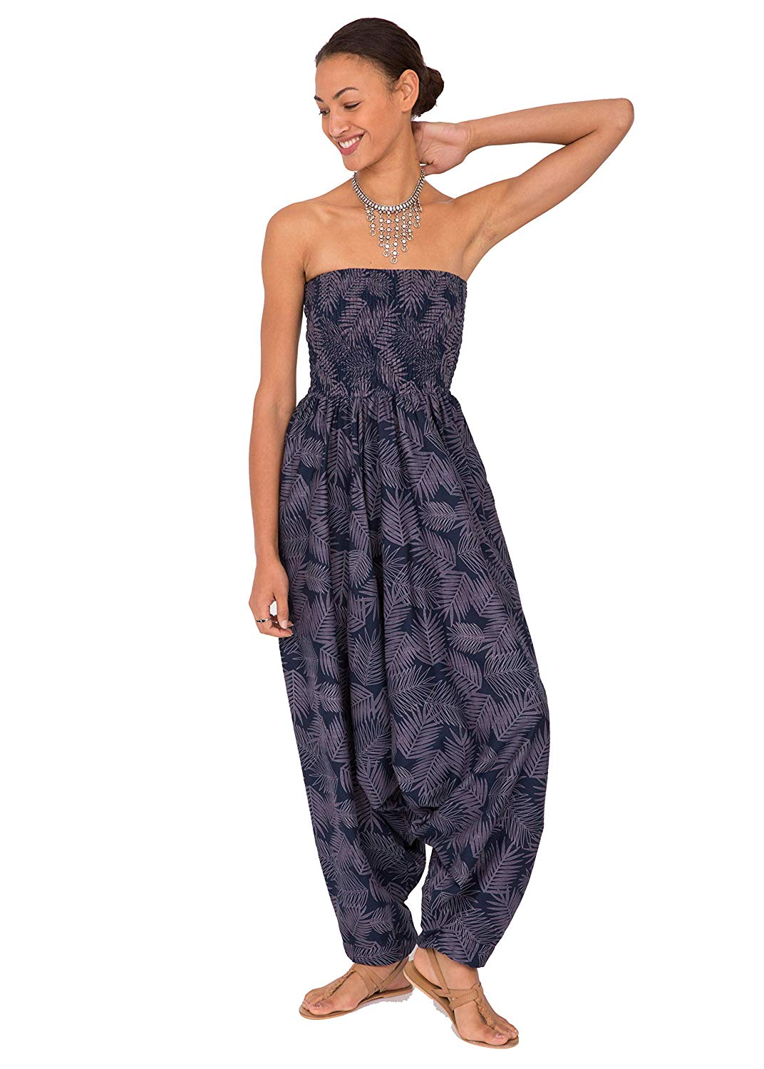 b460e38507 Buy Silk Look Maxi Harem Pants Jumpsuit Romper in Cheap Price on ...