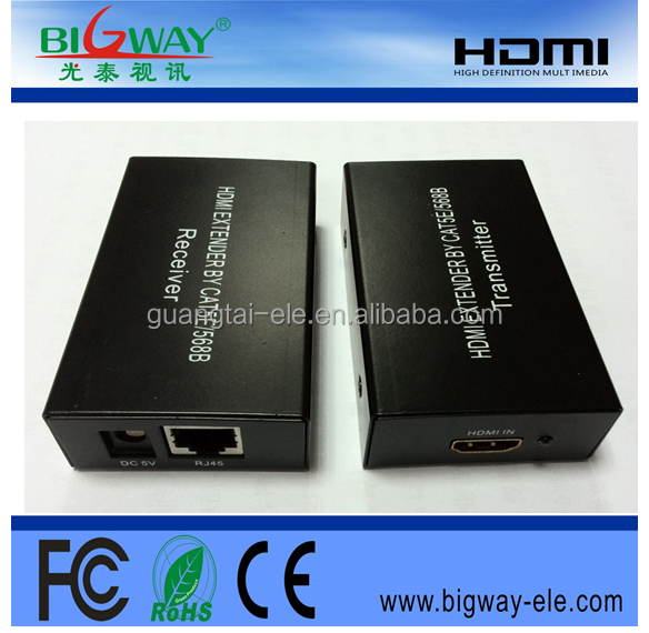 good quality HDMI extender 60m 100m via single CAT 5e/6 by rj45 hdmi extender 120m over tcp/ip 1080P 3D vga dvi kvm extender