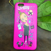 Cartoon Little girl Frosted Mobile Phone Cases for iphone 6 and customize TPU phone cover for Apple