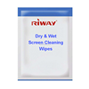 Custom computer screen wipe, touch screen dry & wet screen cleaning wipes