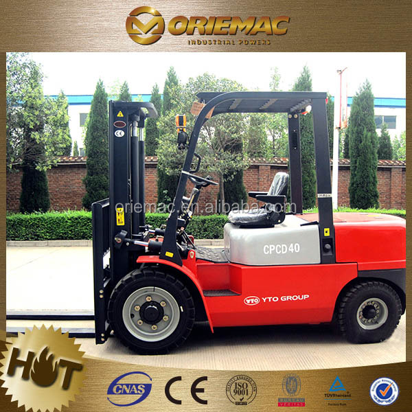 YTO forklift truck price CPCD40 4 ton forklift